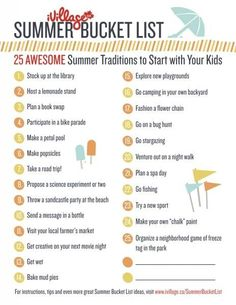 Summer Bucket List - 25 Awesome Summer Traditions to Start with Your Kids