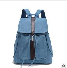 vintage casual women daily backpack canvas bag student schoolbag retro drawstring bag travel hiking backpack bagpack 542t