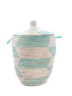 Senegal Laundry Basket Lge   Husk