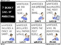 7 deadly sins of marketing