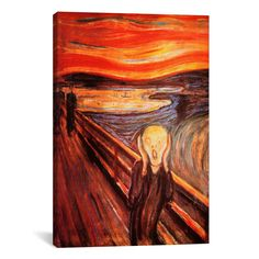 iCanvas 'The Scream' by Edvard Munch Painting Print on Canvas & Reviews | Wayfair