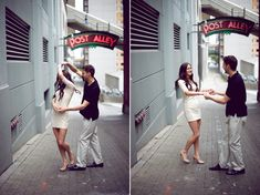 | A Modern Seattle Engagement love the dancing shots!