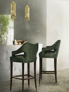 Top 10 moderne Esszimmerstühle | Die beste Gamme der Polstern! Sie können hier alle Arten der Stühle finden: Sessel, Hocker, Esszimmerstühle, Bar Stühle, und so weiter, in Samt oder faux Pelz, oder andere Textile.   Grün Barstühle von Brabbu http://wohn-designtrend.de/top-10-moderne-esszimmerstuehle/
