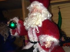 Needle Felted Santa IV by DiAnnCreations on Etsy