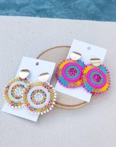Seed Bead Earrings, Beaded Earrings, Earrings Handmade, Beaded Jewelry, Crochet Earrings, Unique Jewelry, Indian Accessories, Jewelry Accessories, Jewelry Design