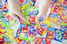 """Does anything scream """"childhood"""" more than Kool-Aid? But did you know how many other things you can do with Kool-Aid? Well, Kool-Aid playdough, for one! Household Cleaning Tips, Toilet Cleaning, Cleaning Recipes, Diy Cleaning Products, Cleaning Hacks, Kool Aid, Fun Crafts, Diy And Crafts, Crafts For Kids"""