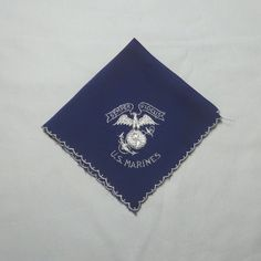 1940s Vintage U.S. Marines Embroidered Handkerchief, Navy with White  Embroidery, Semper Fidelis, Fourth