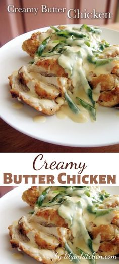"The cream sauce, blended with the fried chicken, is just heavenly. This Creamy Butter Chicken is more than ""finger lickin' good"". Print Creamy Butter Chicken Category: Dinner The cream sauce, blended with the fried. Ginger Chicken, Butter Chicken, Yummy Chicken Recipes, Yum Yum Chicken, Grilled Chicken, Cooked Chicken, Non Stick Pan, Curry Leaves, How To Cook Chicken"