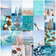 Wall Collage Kit Space Hippy Trippy Vintage Teen Vsco Wall Blue