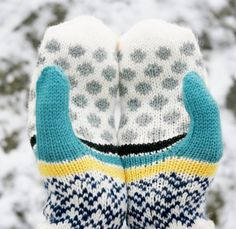 Dots // handknit womens mittens made from pure by margretmaria, $85.00