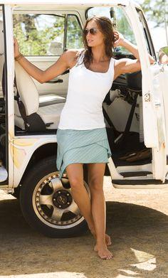 Organic Cotton Carmela Tank + Skim Shadow Stripe Skirt | Athleta Spring 2014 Collection