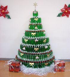 arboles de navidad originales botellas