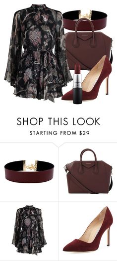 """""""Untitled #551"""" by capm ❤ liked on Polyvore featuring Vanessa Mooney, Givenchy, Zimmermann, Manolo Blahnik and MAC Cosmetics"""