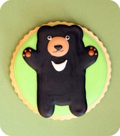 アイシングクッキー、くま