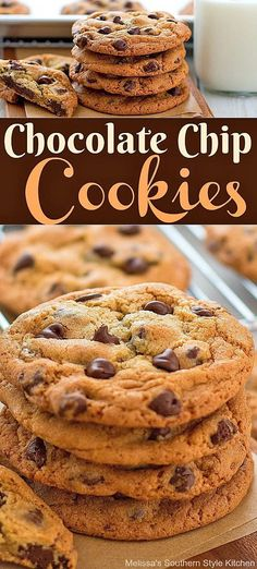 These Chocolate Chip Cookies are loaded with chocolate chips and a special ingredient that causes them to bake with crispy edges and soft chewy centers. Raisin Cookies, Chocolate Chip Cookies, How To Make Cookies, Food To Make, Layered Desserts, Sweet Desserts, Bbq Desserts, Fried Pork Tenderloin, Cookie Recipes