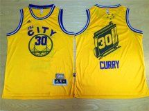 Golden State Warriors #30 Stephen Curry The City Yellow Jersey