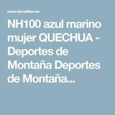 Deportes de Montaña - NH100 azul marino mujer 2596e36b8d0