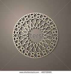 Background with 3d seamless pattern in Islamic style