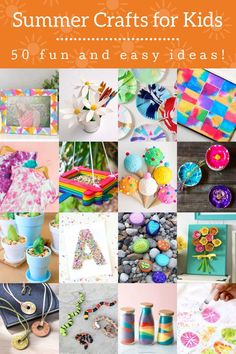 Summer-Crafts-for-Kids Holiday Crafts For Kids, Easy Crafts For Kids, Diy For Kids, Diy Crafts, Snake Crafts, Alcohol Ink Jewelry, Birdhouse Craft, Flower Pens, How To Make Stickers