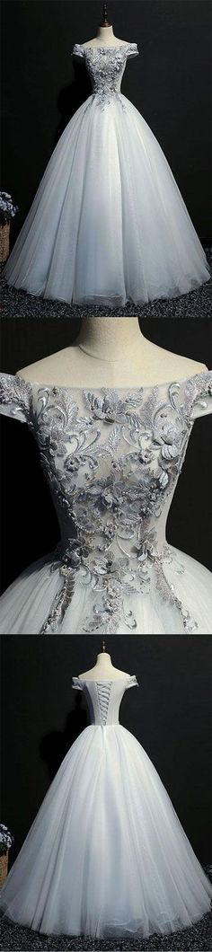 gray lace long prom gown, gray evening dress, formal dress, Shop plus-sized prom dresses for curvy figures and plus-size party dresses. Ball gowns for prom in plus sizes and short plus-sized prom dresses for Grey Evening Dresses, Unique Prom Dresses, Prom Dresses 2017, Long Prom Gowns, Popular Dresses, Elegant Dresses, Pretty Dresses, Evening Gowns, Vintage Dresses
