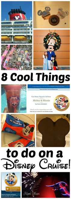 Are you going on a Disney Cruise (or dreaming of going on one)? Here are 8 cool things to do on your Disney Cruise that will add to your vacation fun! Disney Wonder Cruise, Disney Fantasy Cruise, Disney Cruise Door, Disney Dream Cruise, Disney Cruise Ships, Disney Vacations, Cruise Vacation, Disney Travel, Cruise Travel