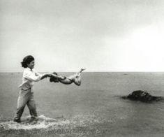 jackie bouvier kennedy with her children on the beach.jpg