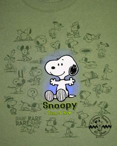 Peanuts 60th Anniversary Then and Now Shirt - Snoopy