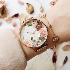 [orginial_title] – Ren Beattie 🌸Beautiful English Garden watch by Olivia Burton has just arrived in store. … 🌸Beautiful English Garden watch by Olivia Burton has just arrived in store. Fancy Watches, Trendy Watches, Cute Watches, Luxury Watches, Cheap Watches, Cute Jewelry, Jewelry Accessories, Fashion Accessories, Fashion Jewelry
