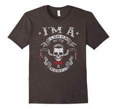 Men's I'm a loner dottie a rebel t-shirt birthday biker gift Small Asphalt