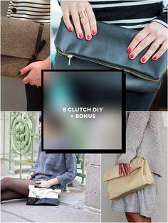Se sei amante del DIY e della moda devi assolutamente leggere questo post e realizzarti da sola una clutch: 8 Progetti per creare una clutch bag fai da te.