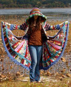 Capa de suéter reciclado del delirio venta por christieshippycloset