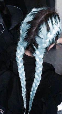 Pastel hair AND braids! Pastel hair AND braids! Hair Dye Colors, Cool Hair Color, Creative Hair Color, Wedding Hairstyles For Long Hair, Cool Hairstyles, Scene Hairstyles, Fashion Hairstyles, Latest Hairstyles, Hair Wedding