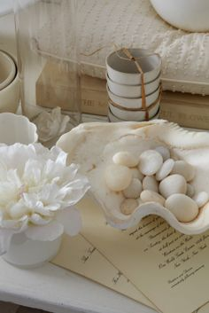 Tricia Foley, The Table: shades of white.  Perfect.