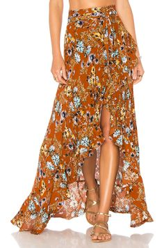 Blue Life Aura Wrap Skirt in Summer Nights | REVOLVE