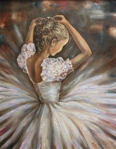 Original Oil Painting-Ballerina Modern por MGOriginalArt en Etsy