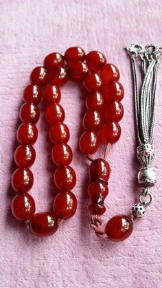 Turkish Prayer Beads ☪ Handmade Jewelry Designs, Handmade Rings, Handmade Bracelets, Earrings Handmade, Rosary Beads, Prayer Beads, Silver Bracelets, Beaded Bracelets, Amber Beads