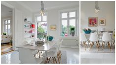 Bright+Scandinavian+Dining+Room White Scandinavian Open Plan Style | 27 Linnestaden
