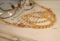 Beaded Eyeglass Lanyard Sunglass lanyard Pearl by CKDesignsUS