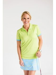 """Birdees and Bows Women's Print 18"""" Golf Skort with Ruffled Detail-Twisted Tees"""