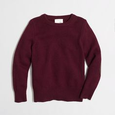 Factory boys' elbow-patch crewneck sweater : Sweaters | J.Crew Factory