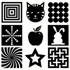 FREEBIE! 5 pages of black & white vision development images for your infant! PLUS 15 other DIY Infant Activities...
