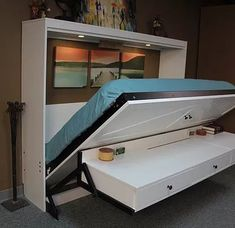 Murphy bed with desk and built in vanity mirror. Perfect for.- Murphy bed with desk and built in vanity mirror. Perfect for a tiny master suite… Murphy bed with desk and built in vanity mirror. Perfect for a tiny master suite.