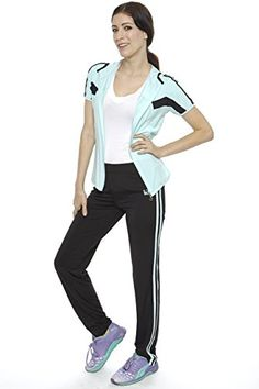 ZITY Women's SpringandSummer Active Zippper Hoodie Short Sleeve 2-pc SweatSuit set >>> Read more reviews of the item by visiting the link on the image.