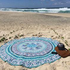 Rawyal-Indian Mandala Round Roundie Beach Throw Tapestry Hippy Boho Gypsy Cotton Tablecloth Beach Towel , Round Yoga Mat by Rawyal Bohemian Wall Tapestry, Tapestry Beach, Mandala Tapestry, Tapestry Wall Hanging, Tapestry Bedroom, Wall Tapestries, Beach Blanket, Picnic Blanket, Picnic Mat