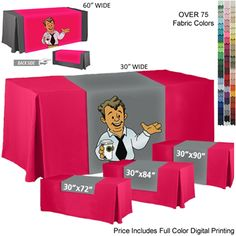 #tradeshow #advertising Digitally Printed Table Runner | Tradeshow Table Runner | Customized Table Runner