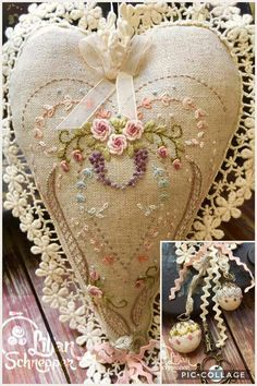 Wonderful Ribbon Embroidery Flowers by Hand Ideas. Enchanting Ribbon Embroidery Flowers by Hand Ideas. Embroidery Hearts, Folk Embroidery, Silk Ribbon Embroidery, Cross Stitch Embroidery, Embroidery Patterns, Embroidery Supplies, Machine Embroidery, Sewing Patterns, Sewing Crafts