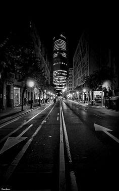 Bilbao at night by Donibane #bilbao #bizkaia #iberdrola #street #city #ciudad #basque #basquecountry