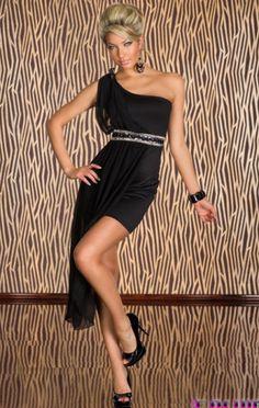 Rochie asimetrica Splendid Night One Shoulder, Shoulder Dress, Dresses, Fashion, Vestidos, Moda, Fashion Styles, Dress, Fashion Illustrations