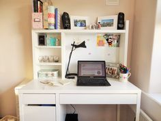 My white ikea Micke desk is the perfect workspace to get creative! - Find out more on my blog (link below)