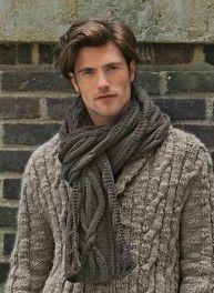 622b85dc8522 Des modèles de tricot au point irlandais - La Malle aux Mille Mailles. Pull  HommeEcharpe ...